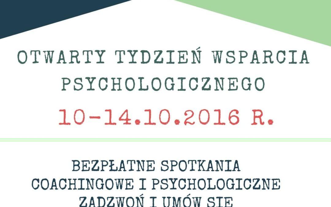 Otwarty Tydzień Wsparcia Psychologicznego